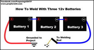 Arc Welding With 3 Batteries