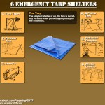 Six Emergency Tarp Shelters Infographic