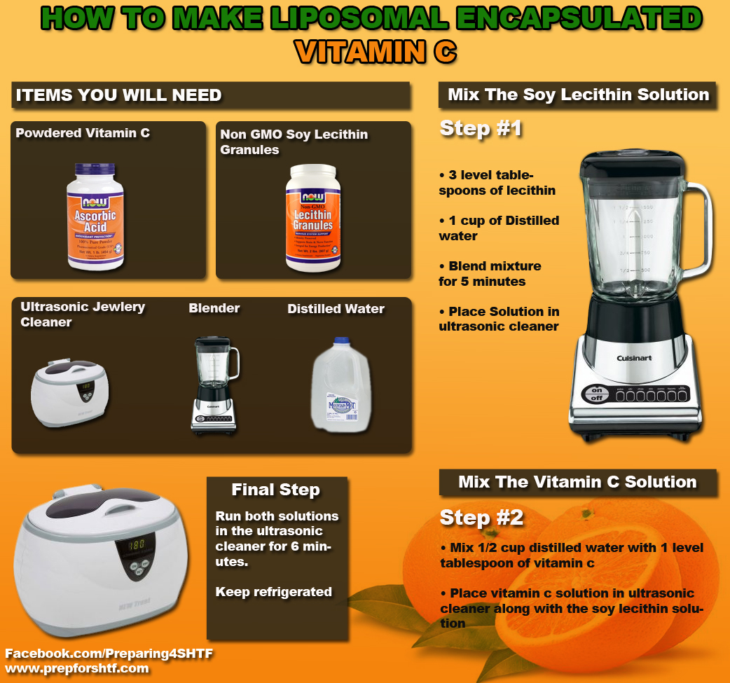 How To Make Liposomal Encapsulated Vitamin C Preparing
