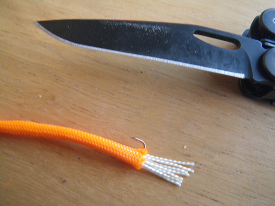 Paracord Lure step 2