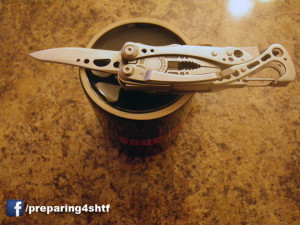 Sharpen a knife with coffee cup