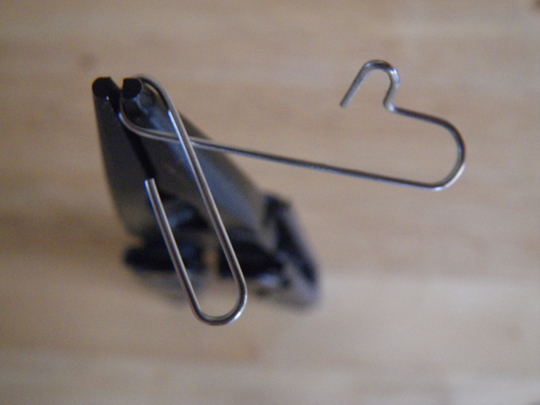 Paperclip safety pin bend 3