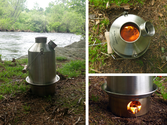Kelly Kettle Scout Burning Different Angles