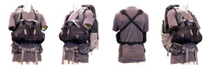 Ribz front pack worn