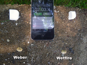Weber vs Wetfire Burn Time