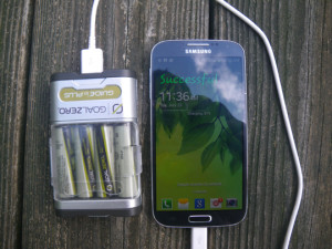 Samsung Galaxy S4 Charging on Goal Zero