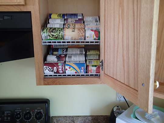 DIY Kitchen Cabinet Organization/Rotation Shelves - Preparing for shtf