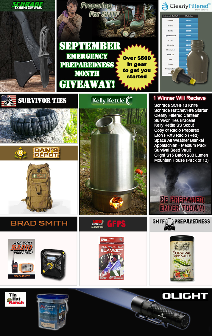 Emergency Preparedness Month Giveaway
