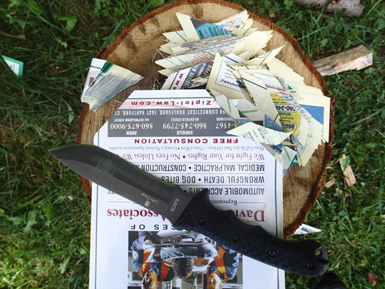 Schrade Cutting Through Phone Book