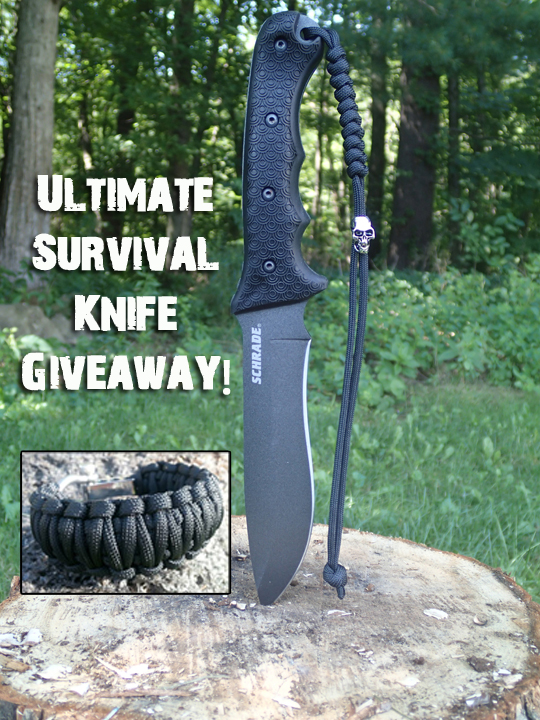 Schrade Ultimate Survival Knife (SCHF9) Giveaway