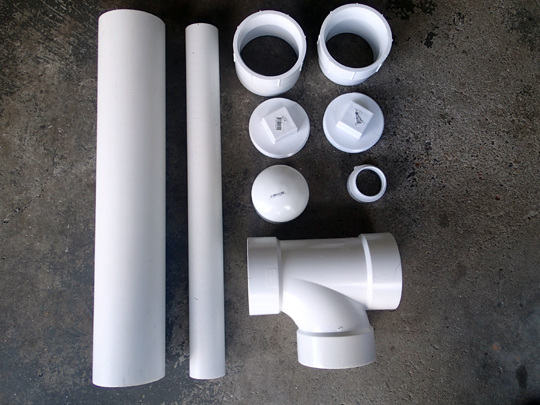 PVC Chicken Feeder Parts