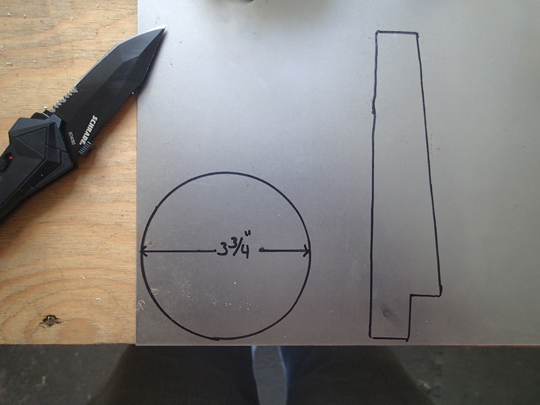Sheet Metal Flag and Circle Plate