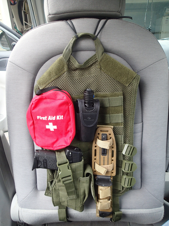 diy tactical car seat back preparing for shtf. Black Bedroom Furniture Sets. Home Design Ideas