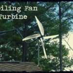 DIY Ceiling Fan Wind Turbine