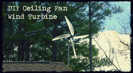 Ceiling fan wind turbine