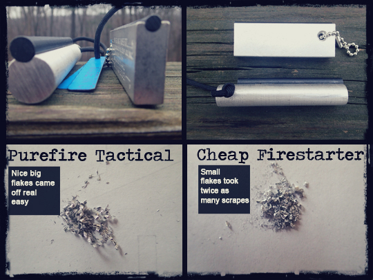 Purefire tactical fire starter comparison