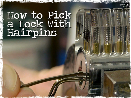 Pick Lock With Hairpins