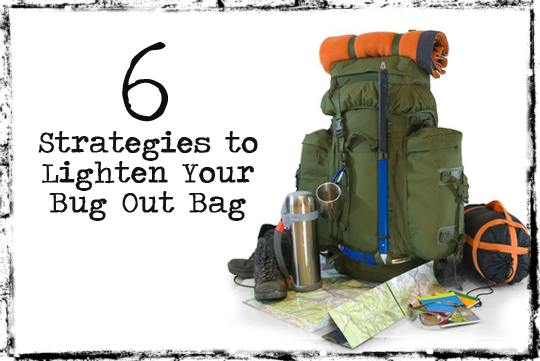 Bug out bag weight
