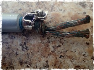 Duct tape keychain bead