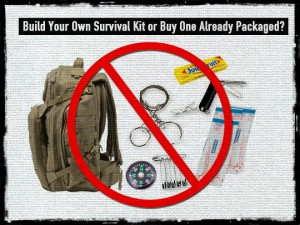 pre-packaged survival kit