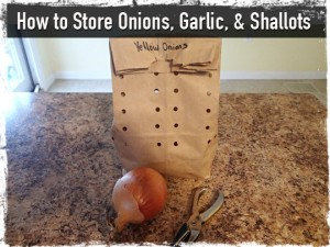 Storing Onions Garlic and Shallots
