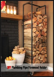 Plumbing Pipe Firewood Holder