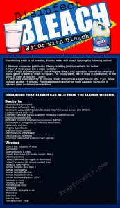 Disinfect water with bleach