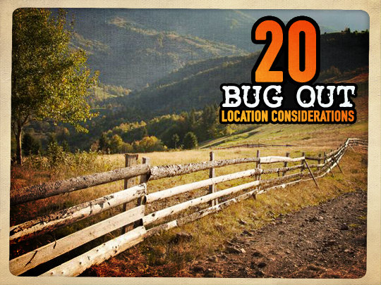 20 Bug Out Location Considerations