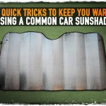 3 Quick Tricks to Keep You Warm Using a Common Car Sunshade