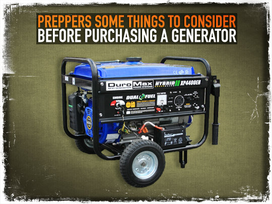 Preppers: Some Things to Consider Before Purchasing a Generator