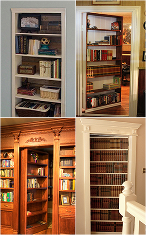 glue the boards Secret Bookcase Doors & How to Build a Secret Bookcase Door