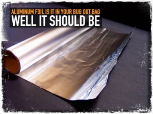 Aluminum Foil Bug Out Bag