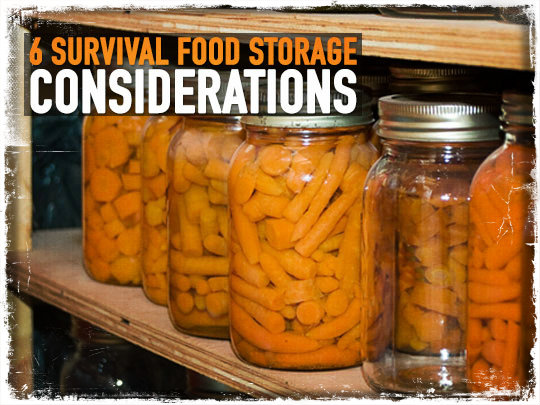 Survival Food Storage
