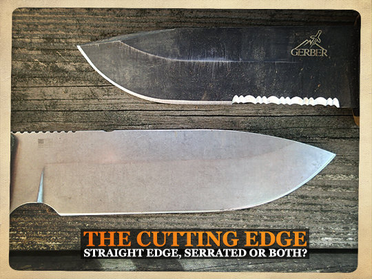 straight edge or serrated edge
