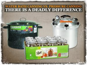Water Bath Canning VS Pressure Canning