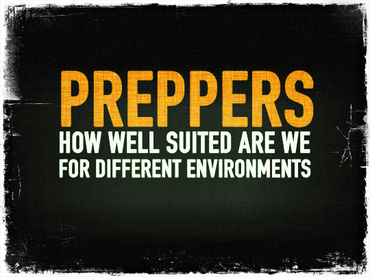 Preppers: How Well Suited Are We for Different Environments