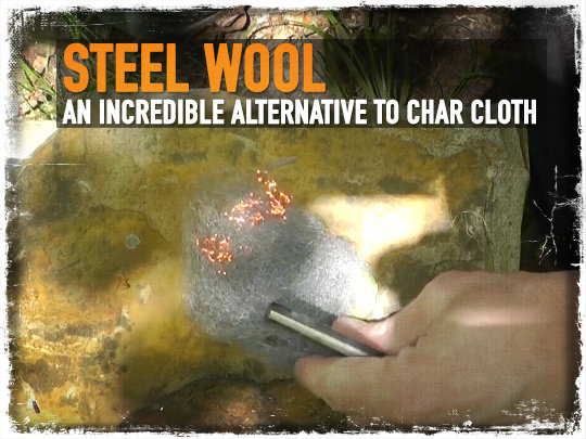 Steel Wool Fire Starter