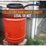 Collecting Rain Water Runoff Legal or Not