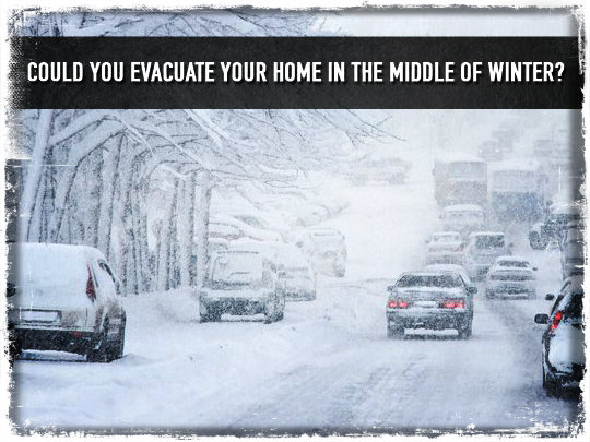Evacualte Home In Winter