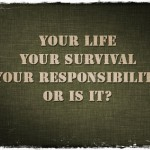 Your Life Your Survival Your Responsibility or Is It?