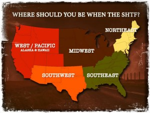 United States Region Map SHTF