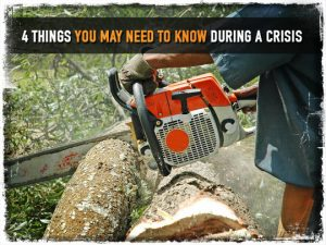 Working Chainsaw