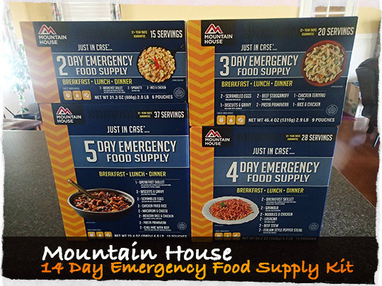 Mountain House Emergency Food Supply Kits