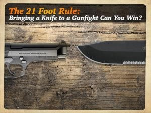 21 Foot Rule Gun vs Knife