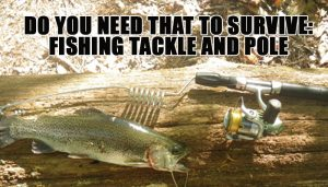 Survival Fishing Pole Tackle