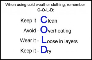 Cold weather survival rules