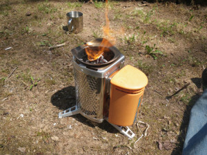 BioLite Camp Stove Burning