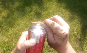 Soda Can Solar Fire Starter