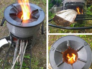 EcoZoom Versa Stove Burning