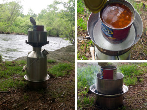 Kelly Kettle Scout Cooking